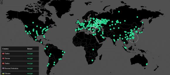 Bản đồ vùng ảnh hưởng của WannaCry
